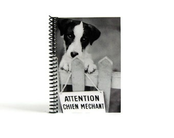 Puppy Notebook A6 Spiral Bound - Writing Diary Journal, Back to School, Dog Lover Gifts Under 20, Blank Sketchbook, 4x6 Inches, Pocket