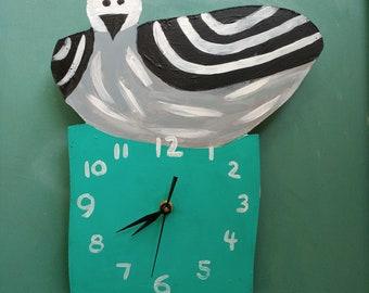 Hand-painted Gull Clock
