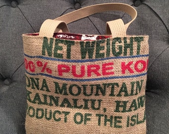 Girls Burlap Tote/ Market Bag/ Beach Bag