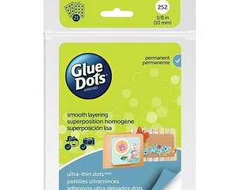 """Mothers Day Special: Glue Dots Clear Thin Dot Sheets Ultra Thin 3/8"""" 252 dots"""