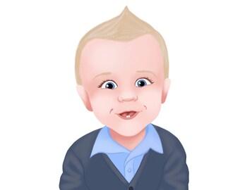 Custom Child Portrait Illustration