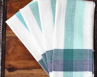 Hand Woven Cotton Spearmint Napkins