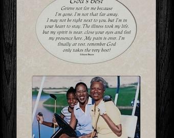 GOD'S BEST Picture & Poetry Memorial/Bereavement Keepsake Photo Frame
