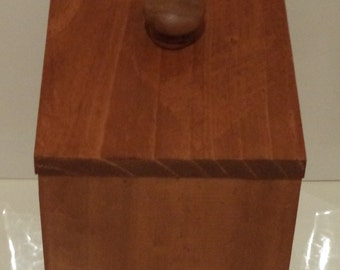 Handcrafted Wooden Storage Container