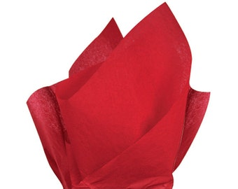 Red Tissue Paper . 20 x 30 inches . 24 sheets
