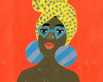 Heart Glasses (But those big earrings tho....) by Sarah Walsh