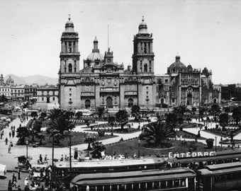 Mexico City Cathedral 1950's RPPC Real Photo Post Card