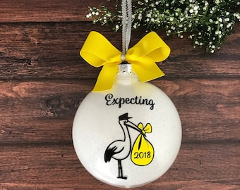 Expecting Ornament, Expecting Mom Gift, We're Expecting Baby Ornament, Baby Shower Gift, New Mom Gift, Mom To Be Gift Expecting Parents Gift