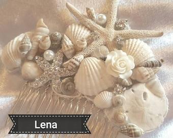 BESPOKE Wedding HAIR COMB Starfish Sand Dollar Sea Shells BRIDALCrystals & Pearls on Sale Now - 1 week only! Custom Made