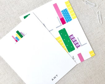 Book Worm Note Card: Unique Customizable Stationery