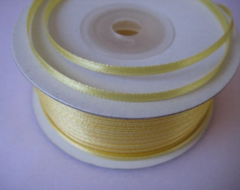 "1/8 "" Yellow Satin Ribbon for Crafting, Tags, Baby Shower, Party Favor, Sewing, 3 mm, 10 yards"