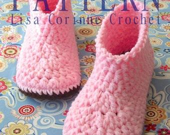 Crochet Slipper PATTERN, Slipper Boots, Crochet Slippers, Boot Slippers, Women Slippers, Crochet Boots PATTERN