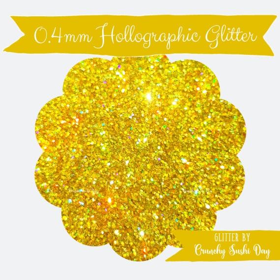 10 grams- 0.4mm Yellow Gold Ultra Fine Glitter, High Quality Holographic Glitter, Glitter, Glitter Confetti, Confetti, Kawaii, Resin Glitter