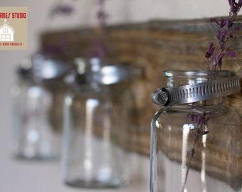 Milk Bottle Vases Wall Hanging