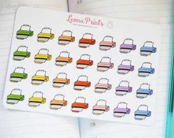 Rainbow Printer Planner Stickers | Stationery for Erin Condren, Filofax, Kikki K and scrapbooking