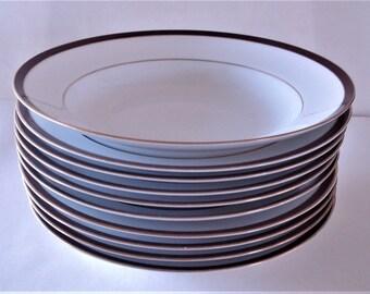 WOODMERE China USA Minners Design Arrowwood Pattern Pasta Soup Bowls.