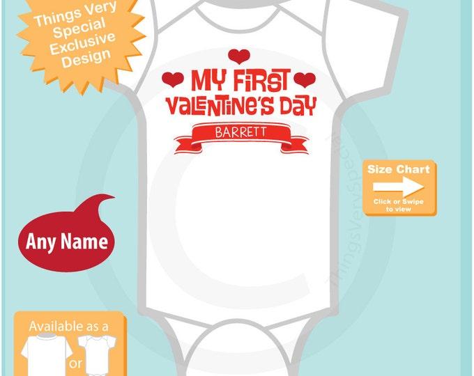 Baby Valentine Bodysuit, First Valentines Day Outfit, First Valentines Day Girl, First Valentines Day Onesie, Baby Bodysuit 01192017c