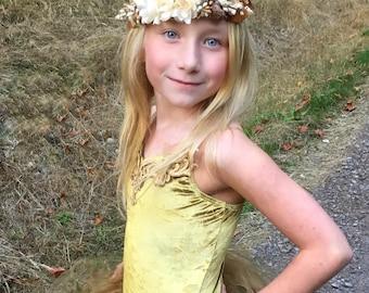 Woodland wonderland, Ivory flower headband-ready to ship -flower girl- cream headband -newborn headband-, ivory tieback,flower girl, flower