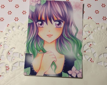 "Cocoa card / ACEO ""spring day"""