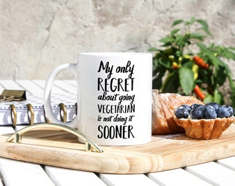 Vegetarian Mug - Funny Vegetarians Gifts - Vegeratian Gifts - Gift For Vegetarian - Vegetarianism - Vegan Gifts - Animal Lover Gifts