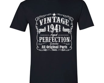 76th Birthday, 1941 Birthday, 1941 Legend. Men's T-shirt, 76th Birthday Gift, 76th Birthday Idea, 76 Birthday Present, 76 BLACK 1941
