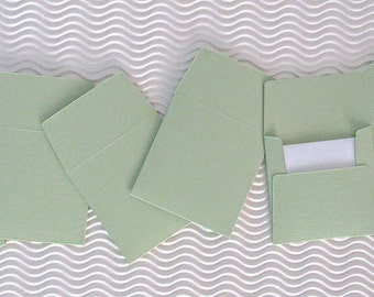 36+ teeny tiny envelope note card sets handmade spring breeze green mini miniature square party favor weddings stationery guest book
