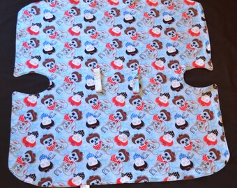 Reversible Baby Car Seat Canopy and Blanket - Skulls/Stars *ON SALE*