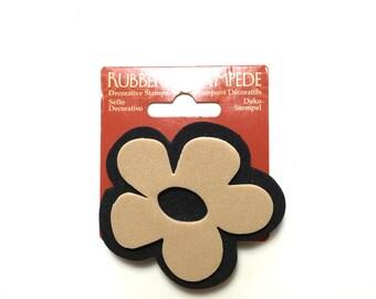 Flower Foam Stamp - floral pattern - DIY printing - floral printing - pattern printing - mixed media stamping