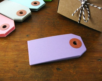 Lavender Purple Mini Gift Tags, Purple Cardstock Tags Set of 20