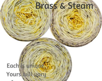 Brass and Steam Impressionist Gradient, dyed to order - pick your yarn and yardage!