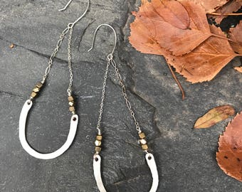 All 4 U Hammered Wire Earrings