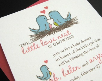 little love nest invitation