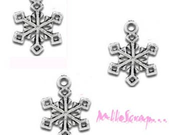 Set of 5 snowflakes Christmas scrapbooking cardmaking 5 charms *.