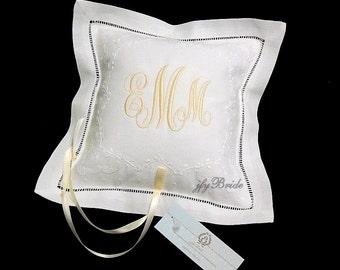 Personalized Ring Bearer Pillow, Monogram Ring Pillow, Wedding Ring Cushion, jfyBride, Style 5826
