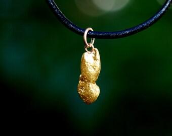 Smooth Gold Nugget Pendant - Natural California Gold Nugget Pendant - Oval Shaped Natural Nugget