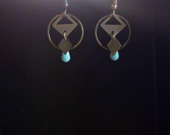 Blue ethnic earrings