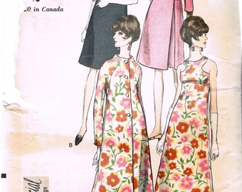 Size 10 Misses' Vintage Dress Pattern - Long Evening Dress With Bodice Cut Outs - Coat With Inverted Pleat Sewing Pattern - Vogue 6909