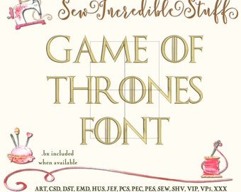 Game of Thrones Machine Embroidery font