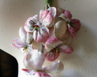 Pink Pansies Velvet Millinery  for Bridal, Boutonnieres, Wreaths, Crowns, Hats, Costumes MF 206