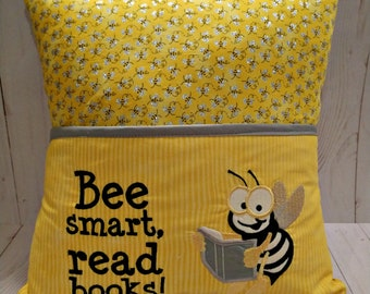 "Reading Pillow, ""Bee Smart"" Design"