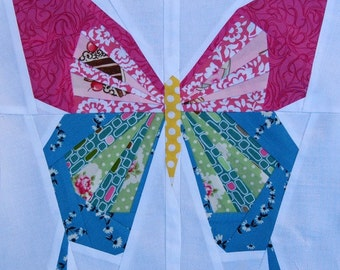 Butterfly- A Foundation Paper Pieced PDF Digital Download Quilt Pattern- 12 Inch