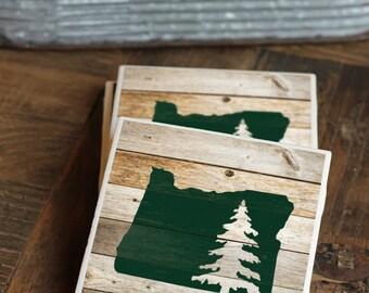 PNW / Oregon Coasters / Coasters / Pacific Northwest / Portland / Oregon Gift / Mountains / Hiking / Portland Gift / Outdoors / Portland OR