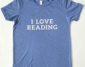I Love Reading (heart motif) -- Kids T-Shirt