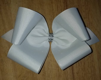 Large White Hair Bows