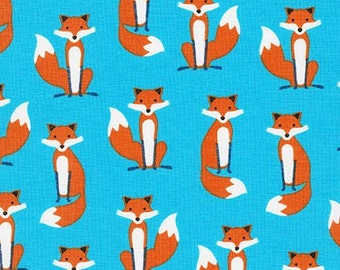 Fabulous Foxes by Andie Hanna, Small Foxes on Blue, yard