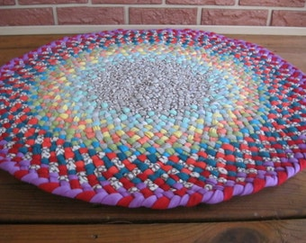 "Made To Order Custom 30"" Braided Round Rug in your choice of colors"
