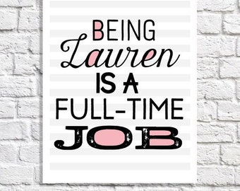 Personalized Decor Quote Print Personalized Print Teen Room Art Teen Girl Bedroom Wall Art Personalized Teen Gift Tween Room Lauren Name Art