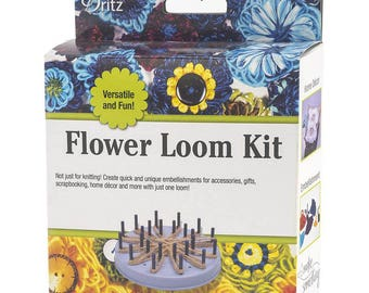 Dritz Flower Loom Kit - Knitting Tool - 1 kit - Tassel Maker and More - Yarn Craft 20057 fnt