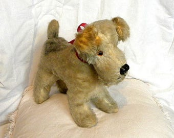 "Mohair Dog from the 1950's - 10"" Mohair Fox Terrier"