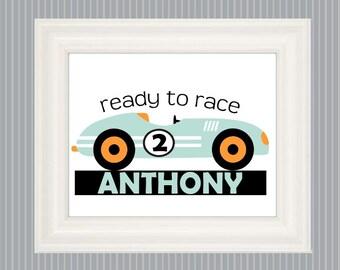Race Car Poster, Race Car Art, Pinewood Derby Car, Race Car Lover, Race Car Nursery, Race Car Bedroom Art, Race Car Wall Decor